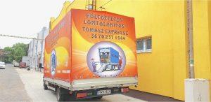 festett teherautó ponyva