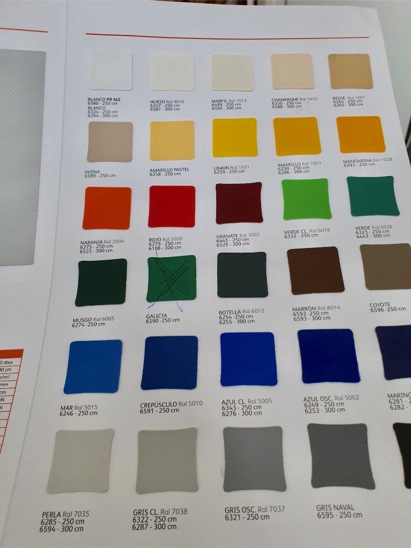 ponyva színek
